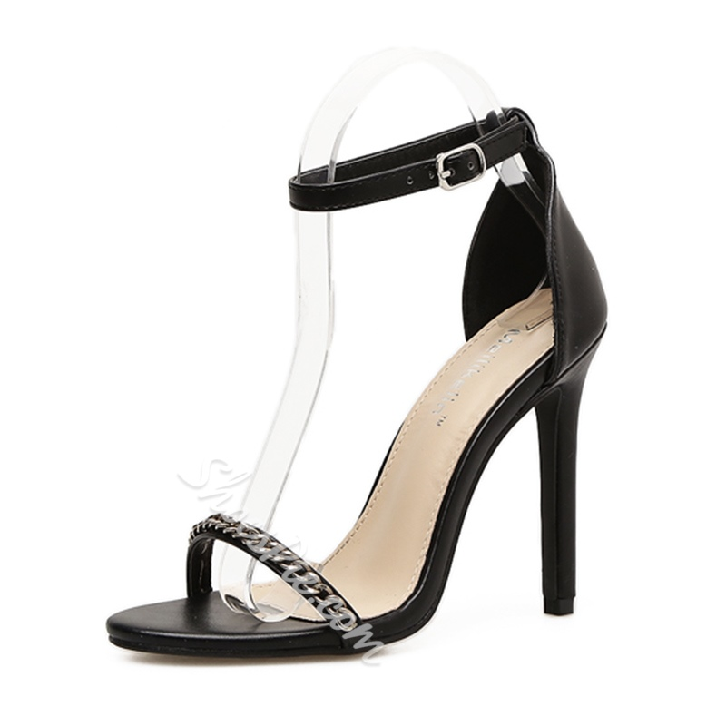 Shoespie Low-Cut Upper Black & White Stiletto Heels