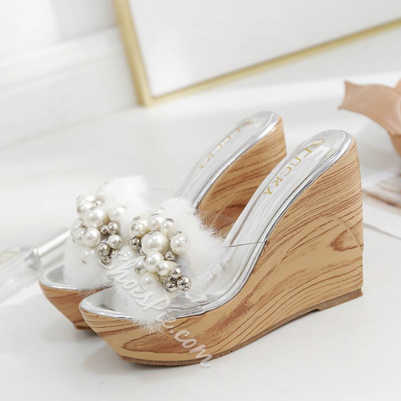 Shoespie Appliques & Beads Decorated Mules Shoes
