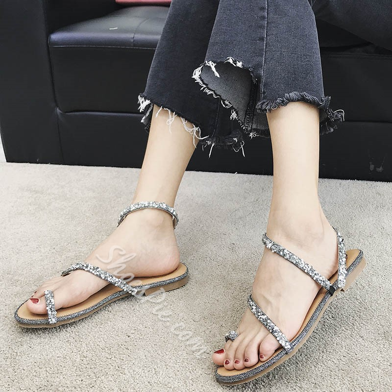Brilliant Sequin Comfortable Open Toe Slipper