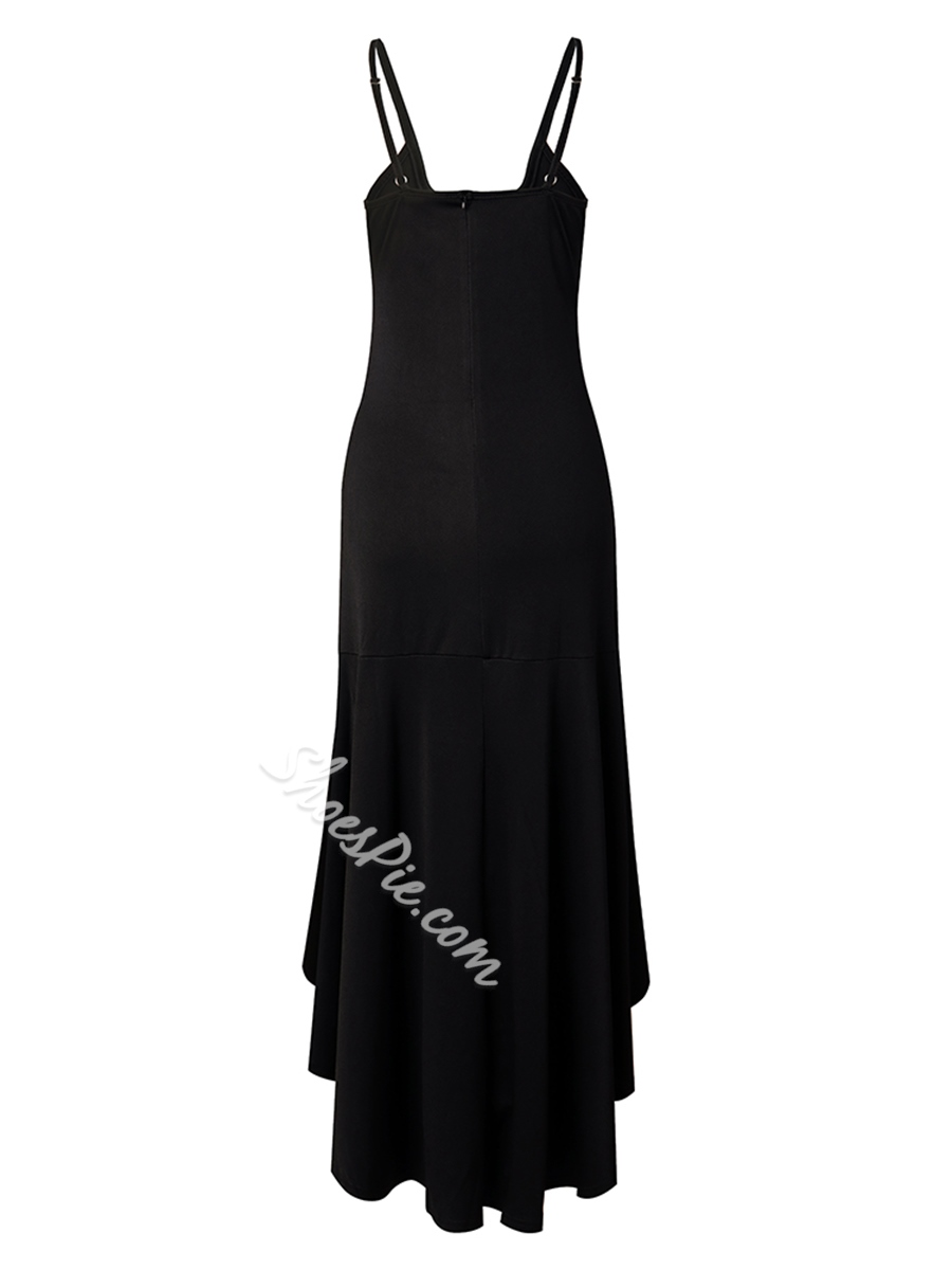 Shoespie Asymmetric Plain Women's Bodycon Dress