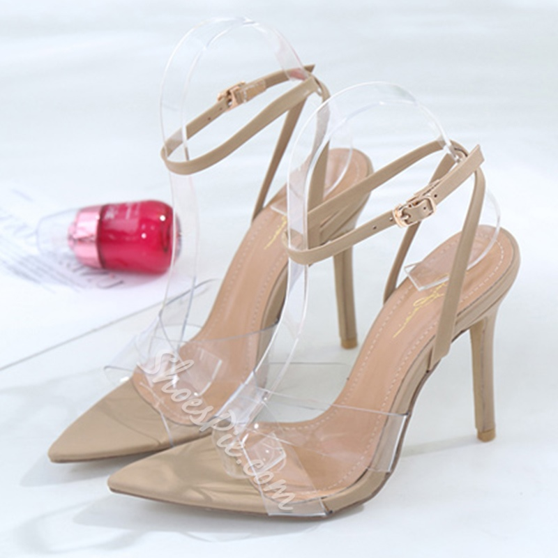 Ankle Strap Jelly High Stiletto Heels