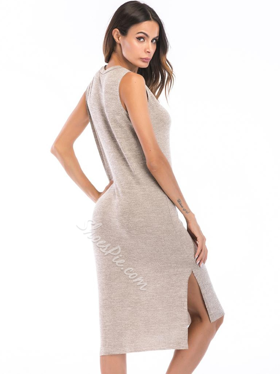 Shoespie Asymmetric Pullover Round Neck Women's' Bodycon Dress