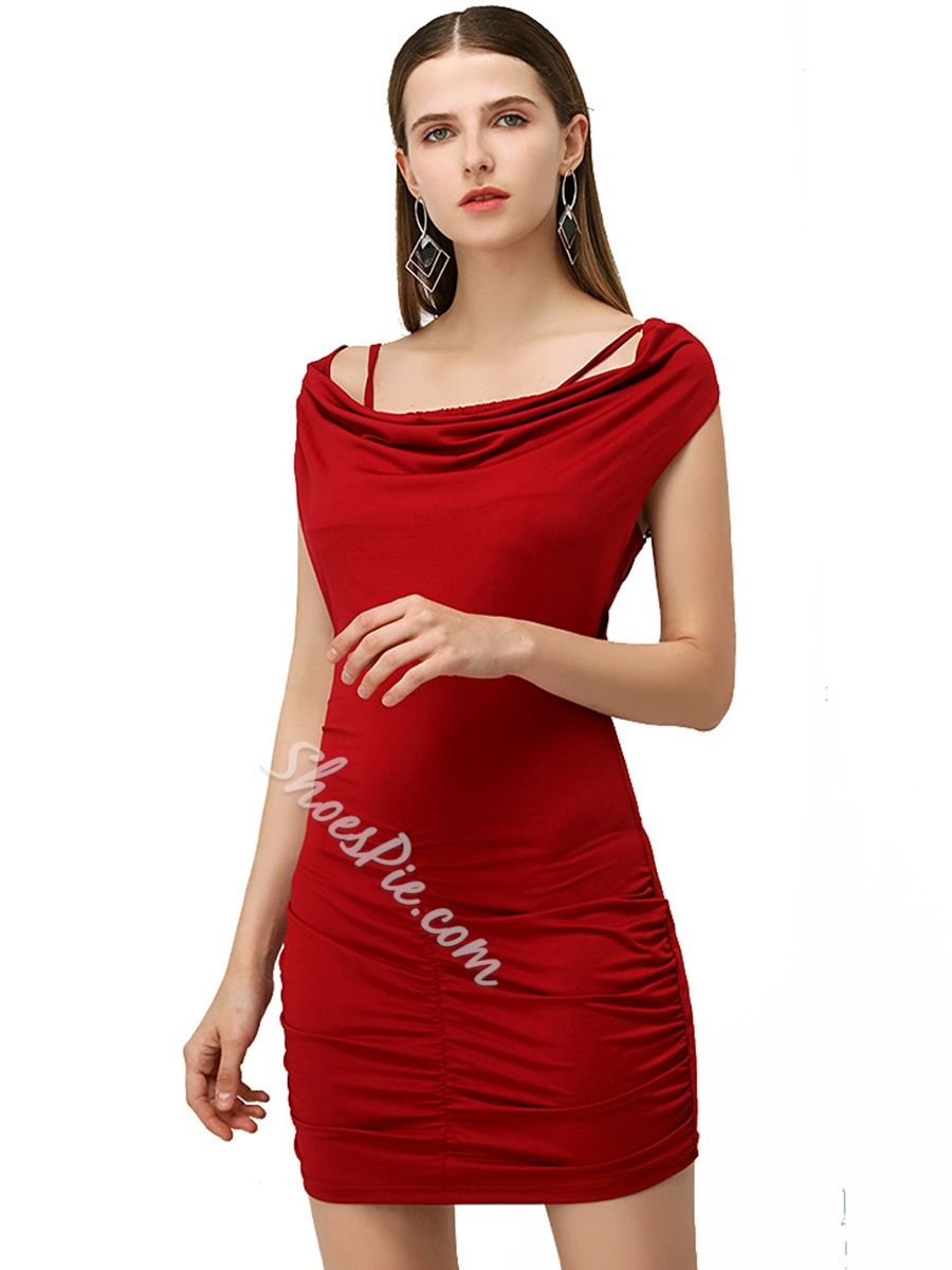 Shoespie Pullover Plain Backless Women's Bodycon Dress