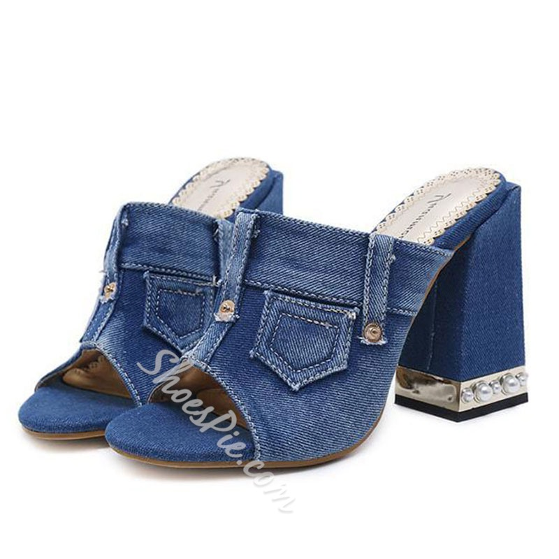 Shoespie Super Special Chunky Heel Mules Shoes
