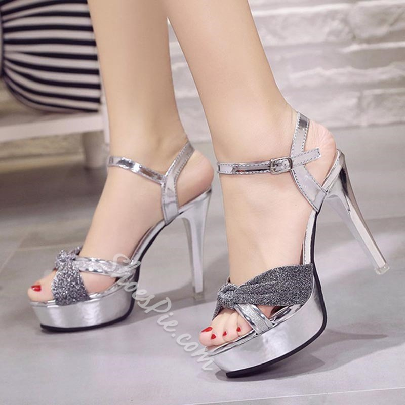 Shoespie Ankle Strap Open Toe Stiletto Heel Sandals