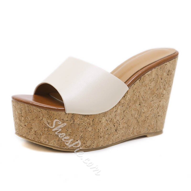 Shoespie Casual PU Platform Mules Shoes