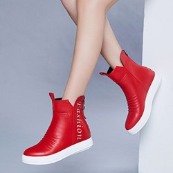 Casual Back Zip Hidden Heel Fashion Boots