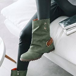 Casual Buckle Side Zipper Ankle Boots