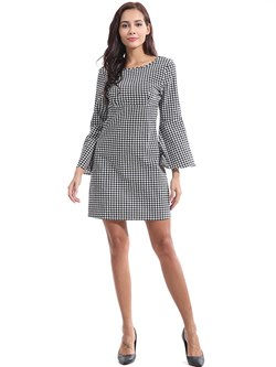 Shoespie Houndstooth Elegant Fall Women's Bodycon Dress