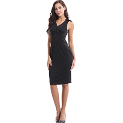 Shoespie Office Lady V Neck Pullover Women's Bodycon Dress