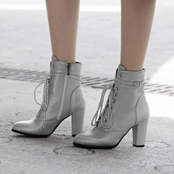 Cross Strap Buckle Casual Side Zipper Ankle Boots