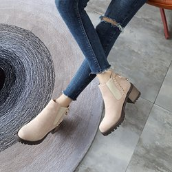 Bowknot Round Toe Casual Ankle Boots