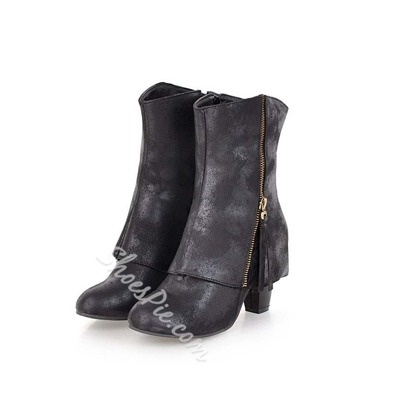 Shoespie Zipper Casual Fashion Ankle Boots