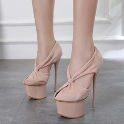 Shoespie Platform Slip-On Stiletto Heels