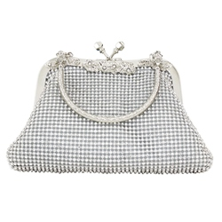 Shoespie Plain Hasp Chain Soft Clutch