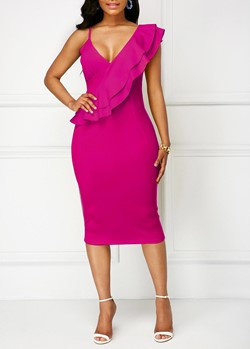 Shoespie Cap Sleeve Sexy V Neck Women's Bodycon Dress