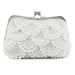 Shoespie Shell Beads Hasp Clutch
