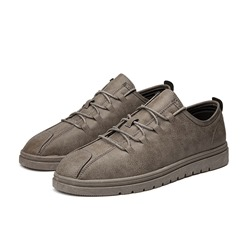 Shoespie Round Toe Lace-Up Sneakers