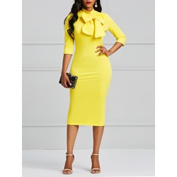 Shoespie Office Lady Pullover Plain Women's Maxi Dress