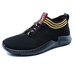 Mesh Casual Stripe Elastic Band Men's Sneakers