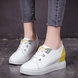 Shoespie Platform Round Toe Wedge Sneakers
