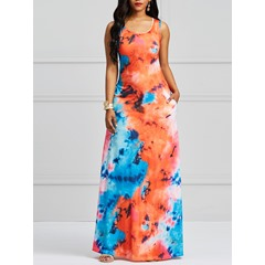 Shoespie Polyester Pullover Expansion Women's Maxi Dress