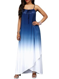 Shoespie Beach Look Gradient Lace-Up Women's Maxi Dress