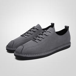Casual Thread Lace-Up Round Toe Men's Shoes
