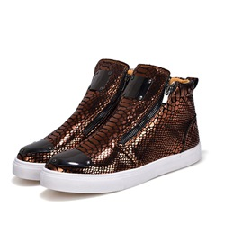 Sequin Serpentine Zipper High Upper Sneakers