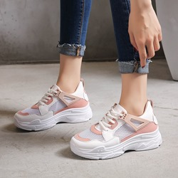 Shoespie Mesh Round Toe Casual Women's Sneakers
