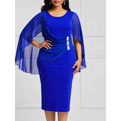 Shoespie Patchwork Pullover Pleated Women's Bodycon Dress