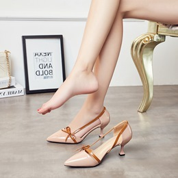 Shoespie Bowknot Pointed Toe Low Heels