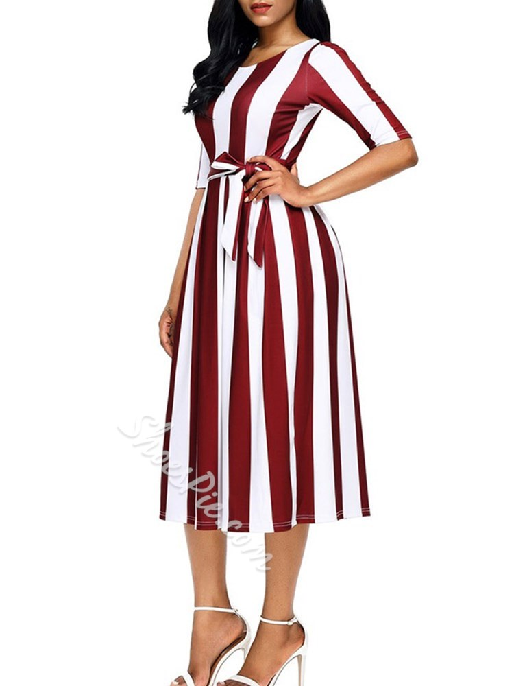 Shoespie Belt Bowknot Elegant Women's Maxi Dress