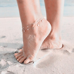 Concise Moon Shape Alloy Anklets