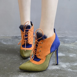 Shoespie Pointed Toe High Heels Ankle Boots
