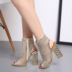 Shoespie Hollow Peep Toe High Heels