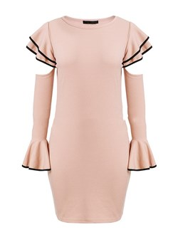 Shoespie Round Neck Elegant Women's Bodycon Dress