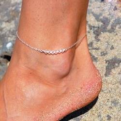 Geomstone Decorated E-plating Beach Anklets