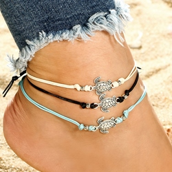 Tortoise Shape Alloy Beach Anklets