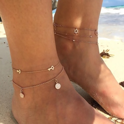 Popular Key Star Double Anklets