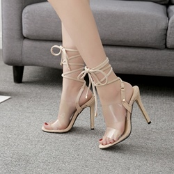 Shoespie Open Toe Lace-Up Stiletto Heels