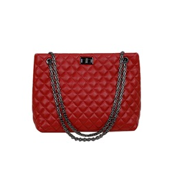 Shoespie Rectangle Quilted Lining Chain Soft Handbag