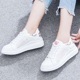 Shoespie Lace-Up Embroidery Floral Women's Sneakers