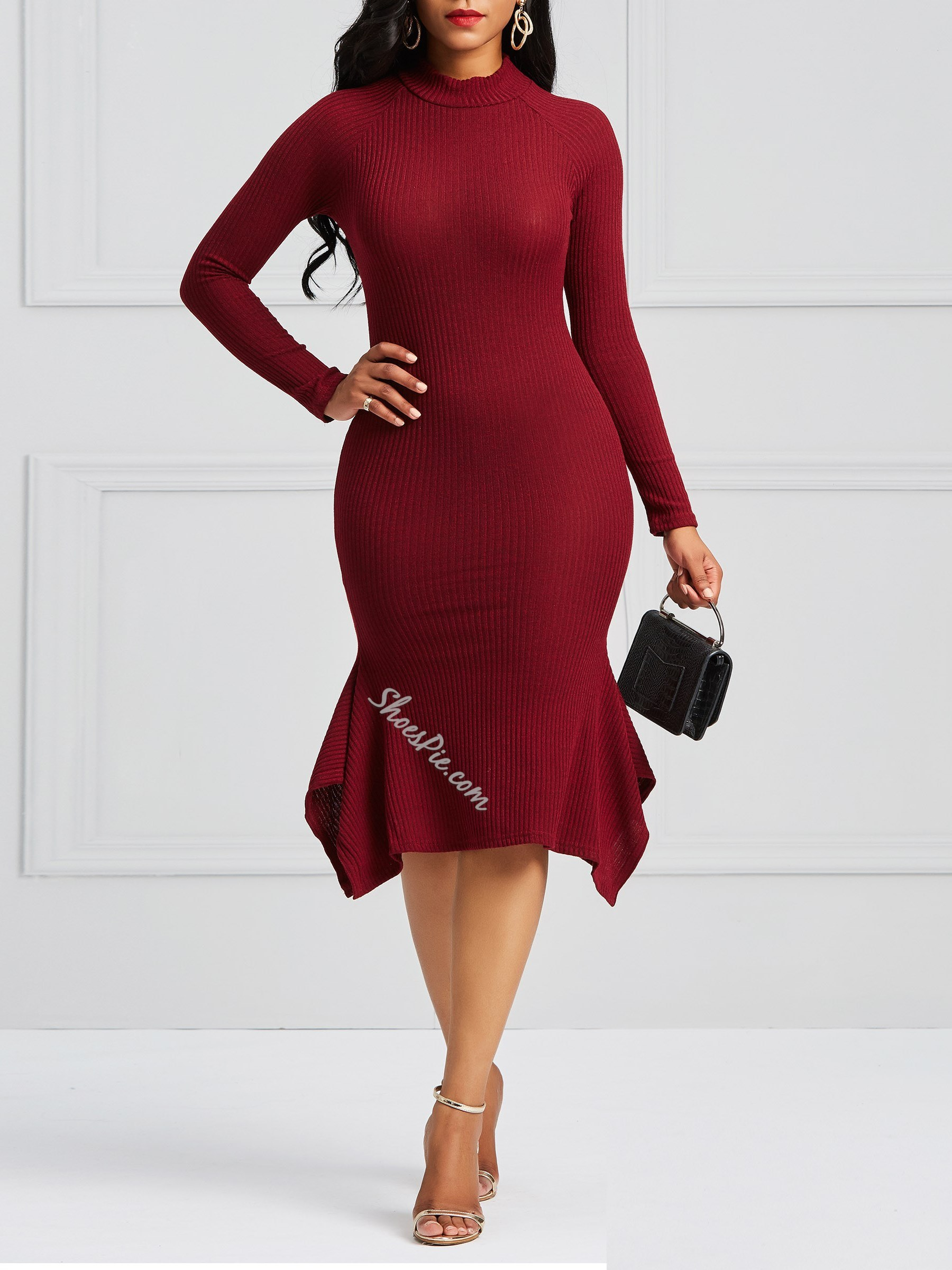 Shoespie Asymmetric Cotton Women's Bodycon Dress