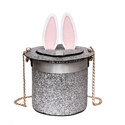 Shoespie Barrel Shape Sequins Chain Women Handbag