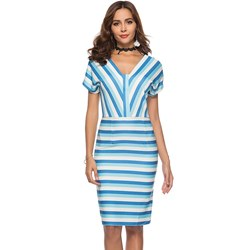 Shoespie Stripe Pullover Single Women's Bodycon Dress
