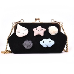 Shoespie Knitted Chain Shell Women Handbag