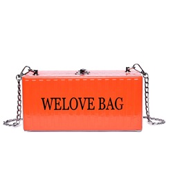 Fashion Hasp Letter Chain Women Handbag