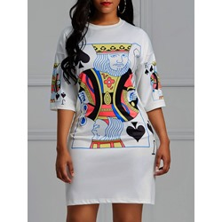 Shoespie Polyester Western Cartoon Women's Bodycon Dress