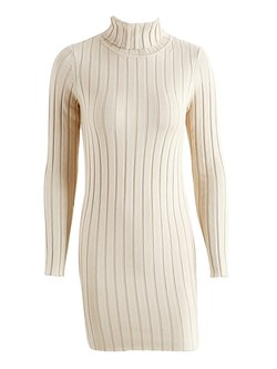 Shoespie Turtleneck Regular Women's Bodycon Dress